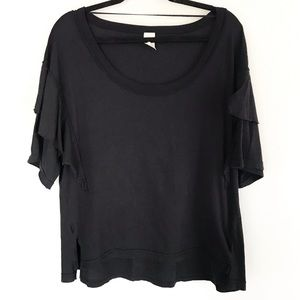   We the Free   tiered ruffle sleeve top